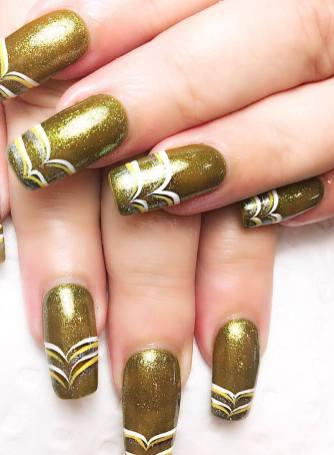 50 Glam Gold Girly Nail Art Looks Ideas 26