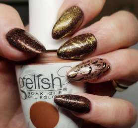 50 Glam Gold Girly Nail Art Looks Ideas 28