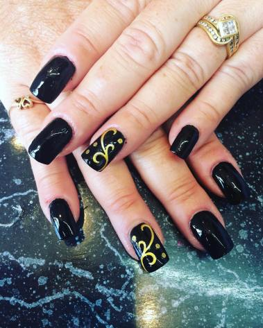 50 Glam Gold Girly Nail Art Looks Ideas 30