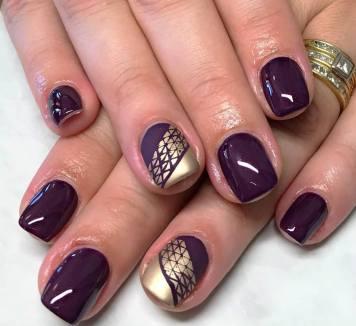 50 Glam Gold Girly Nail Art Looks Ideas 34