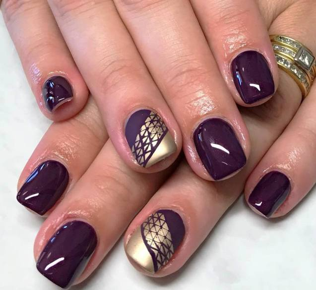 50 Glam Gold Girly Nail Art Looks Ideas 34