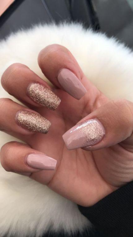 50 Glam Gold Girly Nail Art Looks Ideas 4