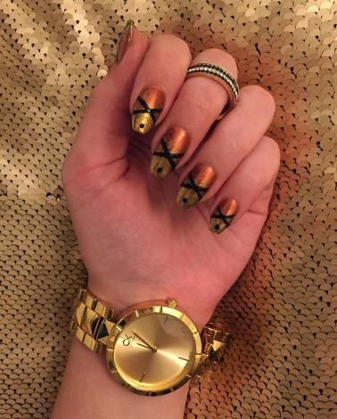 50 Glam Gold Girly Nail Art Looks Ideas 50