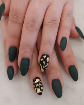 50 Glam Gold Girly Nail Art Looks Ideas 52