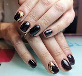 50 Glam Gold Girly Nail Art Looks Ideas 53