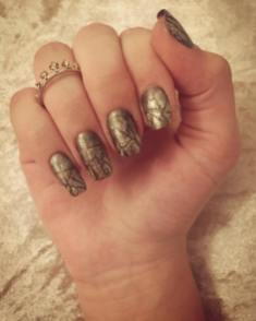 50 Glam Gold Girly Nail Art Looks Ideas 55