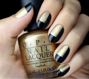 50 Glam Gold Girly Nail Art Looks Ideas 9