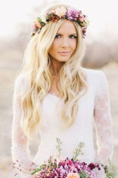 50 Natural Loose Hairstyle Looks for Brides Ideas 36
