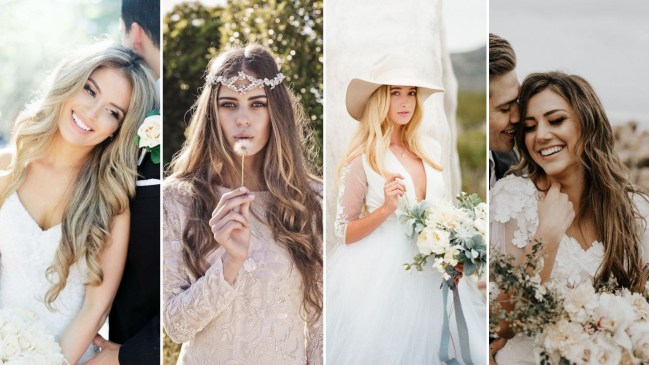 50 Natural Loose Hairstyle Looks for Brides Ideas
