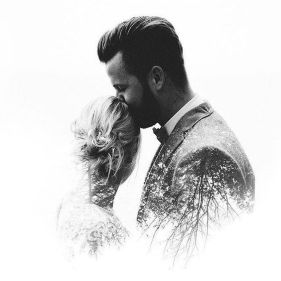 50 Romantic Wedding Double Exposure Photos Ideas 1