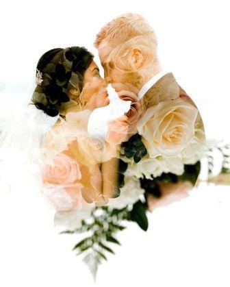 50 Romantic Wedding Double Exposure Photos Ideas 14