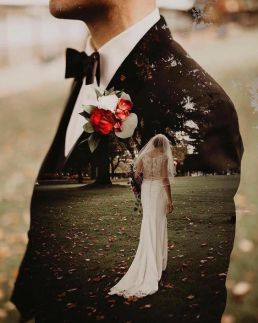 50 Romantic Wedding Double Exposure Photos Ideas 15