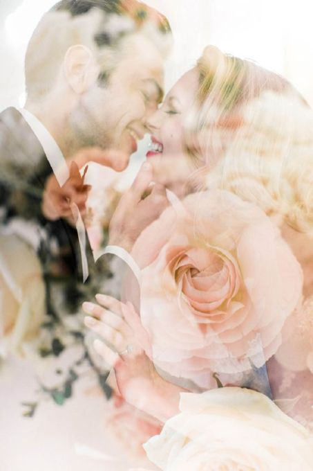50 Romantic Wedding Double Exposure Photos Ideas 16