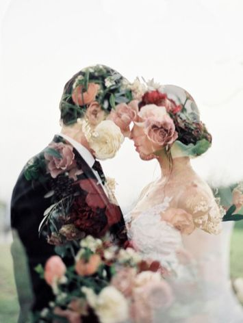 50 Romantic Wedding Double Exposure Photos Ideas 17