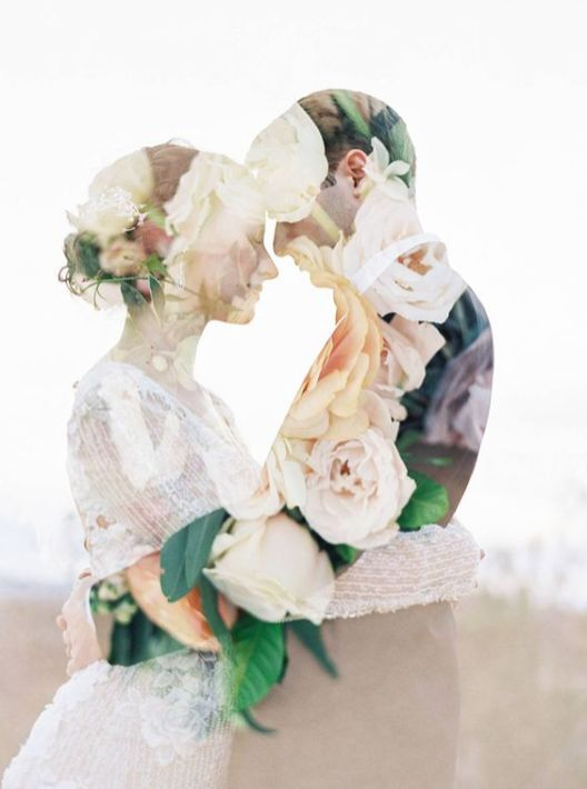 50 Romantic Wedding Double Exposure Photos Ideas 2