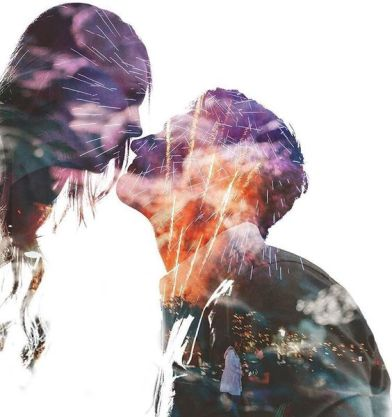 50 Romantic Wedding Double Exposure Photos Ideas 21