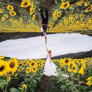 50 Romantic Wedding Double Exposure Photos Ideas 23