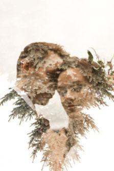 50 Romantic Wedding Double Exposure Photos Ideas 24