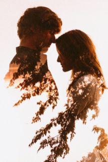 50 Romantic Wedding Double Exposure Photos Ideas 28