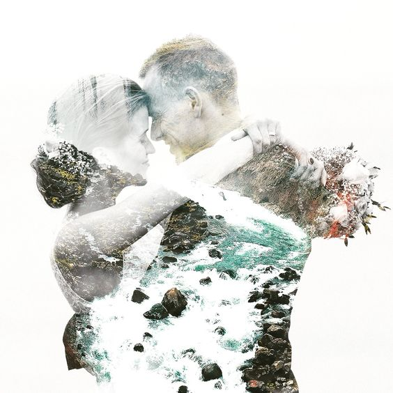 50 Romantic Wedding Double Exposure Photos Ideas 30