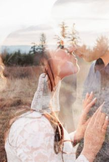 50 Romantic Wedding Double Exposure Photos Ideas 43