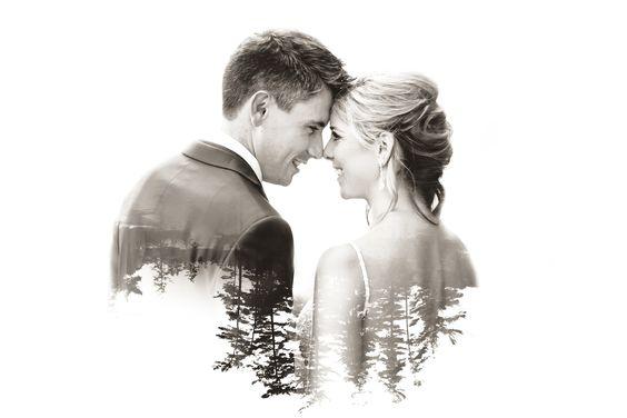 50 Romantic Wedding Double Exposure Photos Ideas 46