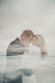 50 Romantic Wedding Double Exposure Photos Ideas 48