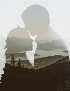 50 Romantic Wedding Double Exposure Photos Ideas 49