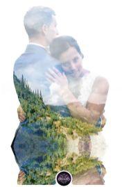 50 Romantic Wedding Double Exposure Photos Ideas 5