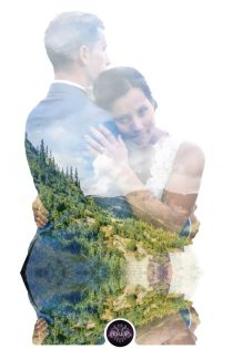 50 Romantic Wedding Double Exposure Photos Ideas 5