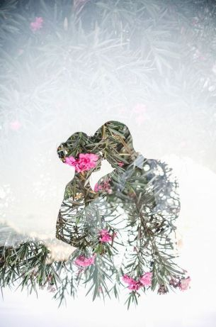 50 Romantic Wedding Double Exposure Photos Ideas 53