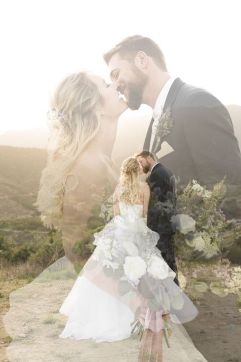 50 Romantic Wedding Double Exposure Photos Ideas 9
