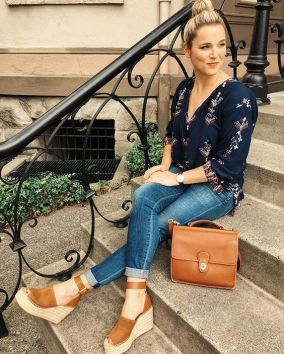 50 Ways to Wear Wedges for Spring and Summer Ideas 44