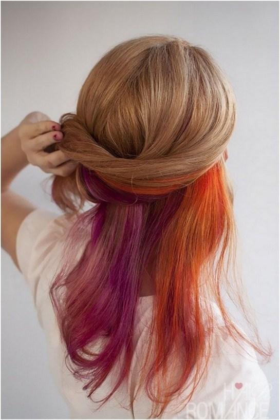 50 Best Peek A Boo Hair Color Ideas 32