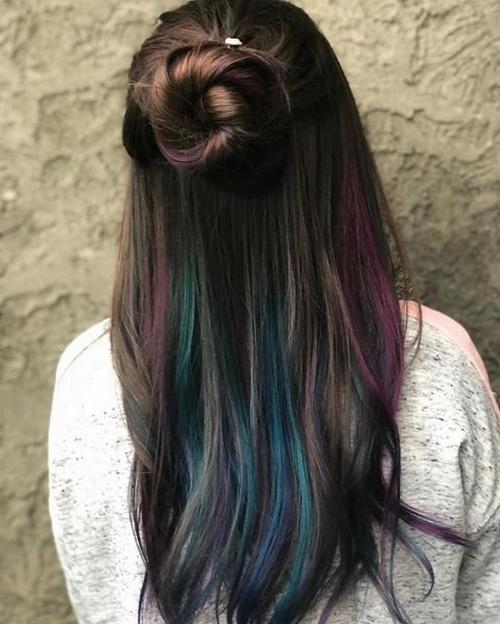 50 Best Peek A Boo Hair Color Ideas 35