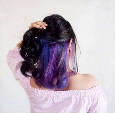 50 Best Peek A Boo Hair Color Ideas 49