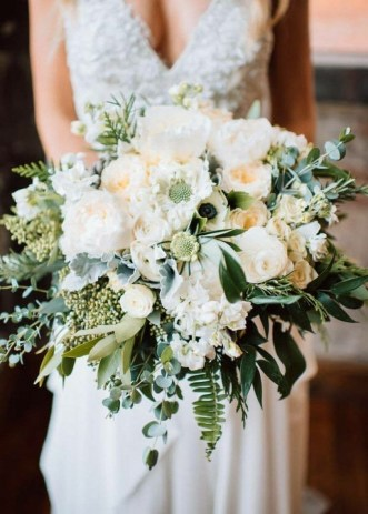 Best Romantic Peony Wedding Bouquet Inspiration 19