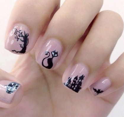 50 Cute Halloween Nail Art You Will Love 45