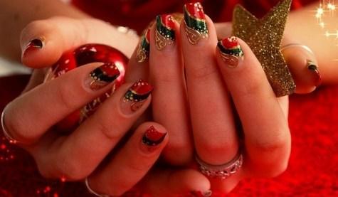 50 Lovely Chrismas Nail Art You Need to 18