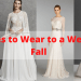 Dresses to Wear to a Wedding Fall