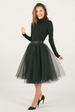 40 Simple Glam Black Tulle Skirt Outfits Ideas 16