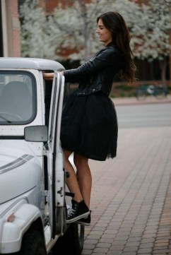 40 Simple Glam Black Tulle Skirt Outfits Ideas 17