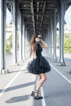 40 Simple Glam Black Tulle Skirt Outfits Ideas 3