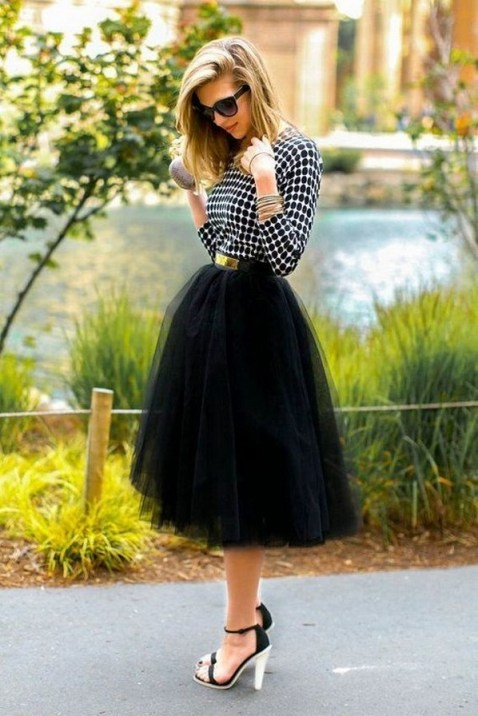 40 Simple Glam Black Tulle Skirt Outfits Ideas 40