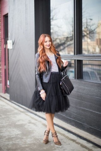 40 Simple Glam Black Tulle Skirt Outfits Ideas 6