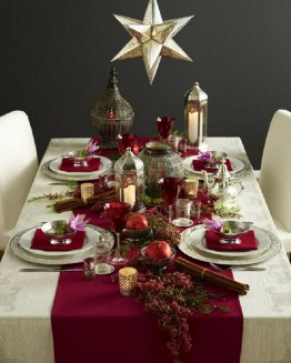 50 How to Arrange a Dining Table for Christmas Occasion 5