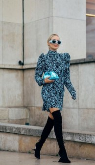 50 Stylish and Comfy Winter Dresses Ideas 28