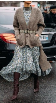 50 Stylish and Comfy Winter Dresses Ideas 31