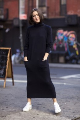 50 Stylish and Comfy Winter Dresses Ideas 45
