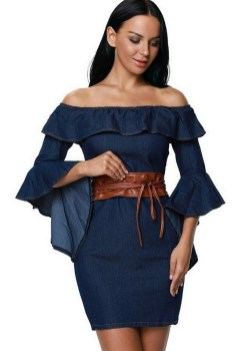 55 Casual Denim Dresses for Outing Ideas 10